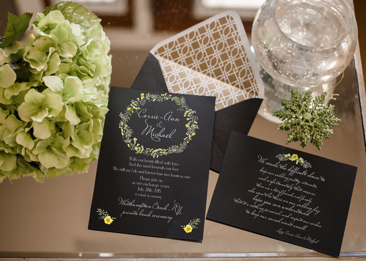 Wedding Invitation Suite Mockup Hamptons Designs