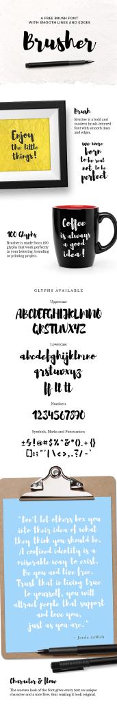 Brusher-Free-Font-600